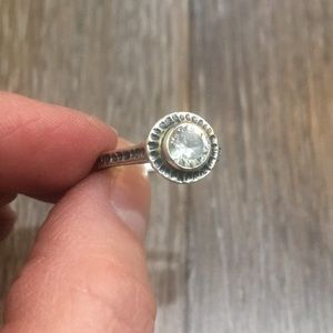 Silpada Size 6 CZ and Sterling Silver Ring
